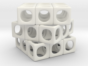 Rounded Cube in White Strong & Flexible