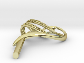 "Ohrring ""Rohling"" in 18k Gold"