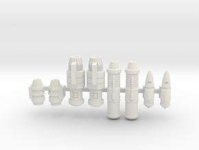 Space Ship Engines 1/270 1/285 in White Natural Versatile Plastic