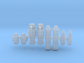 Space Ship Engines 1/270 1/285 in Smooth Fine Detail Plastic