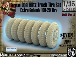1-35 Opel Blitz Tire 190x20 FUD Set2 in Frosted Ultra Detail