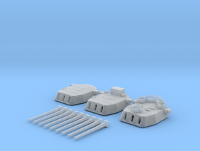 "1/350 16""/45 MKI HMS Nelson Turrets 1943 in Smooth Fine Detail Plastic"
