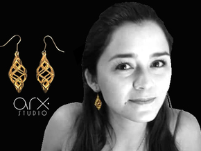 Capriccio Earrings in 18k Gold Plated Brass