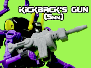 Kickback's Gun, 5mm in White Natural Versatile Plastic