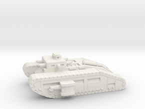 Infantry Flame Tank in White Natural Versatile Plastic