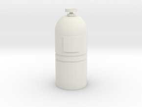 Printle Thing Gas-bottle 1/24 in White Natural Versatile Plastic