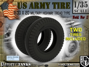 1-35 Tire HW 9 00x20 Set1 in Frosted Ultra Detail