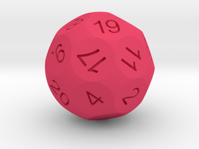 D24 Sphere Dice for Impact! Miniatures in Pink Strong & Flexible Polished