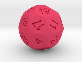 D24 Sphere Dice for Impact! Miniatures in Pink Processed Versatile Plastic