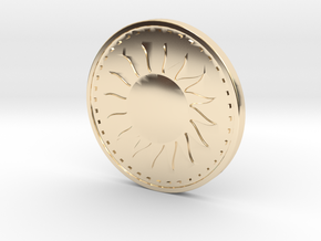 Coin of the Sun in 14K Yellow Gold