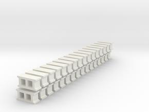 Cinderblocks in O Scale in White Natural Versatile Plastic