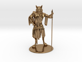 Aslan (Traveller race) Miniature in Natural Brass: 1:60.96