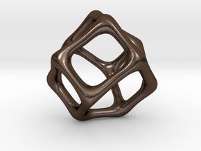 Asymmetry Pendant 3 in Polished Bronze Steel