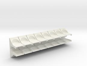 Breadboard Magnet Mount 16 Pack in White Strong & Flexible