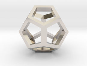 geommatrix dodecahedron in Rhodium Plated Brass