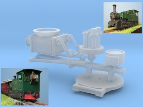 00n3 Clogher Tram Engine - Detail Parts in Smooth Fine Detail Plastic