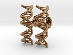 Small DNA Cufflinks in Polished Brass