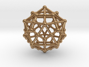 Dodecahedron - Icosahedron in Polished Brass