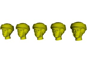 1/35 scale Star Wars rebel trooper heads x 5 in Smooth Fine Detail Plastic