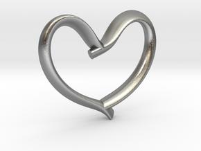 Valentine's Day in Natural Silver: Medium