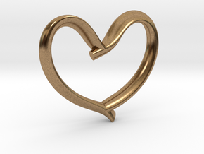 Valentine's Day in Natural Brass: Medium