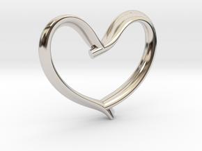 Valentine's Day in Rhodium Plated Brass: Medium