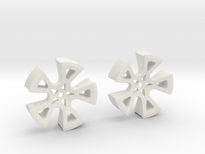"""1.5"""" Earrings. Gages, Tunnel, etc... in White Natural Versatile Plastic"""
