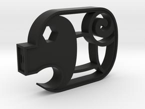 Piggy Cuts V2 - Hollow Nostrils  FULL SIZE in Black Natural Versatile Plastic
