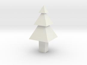 Christmas Tree Ornament in White Natural Versatile Plastic