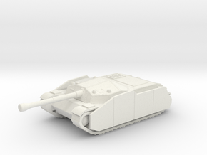 Zrinyi I with side armor Hungarian ww2 tank  in White Natural Versatile Plastic