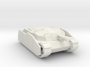 Zrinyi II with side armor Hungarian ww2 tank  in White Natural Versatile Plastic