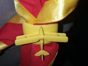Tiger Moth Woggle in Yellow Processed Versatile Plastic