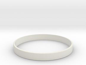 Bracelet Medium B  Ø2.44 inch/Ø62 mm in White Natural Versatile Plastic