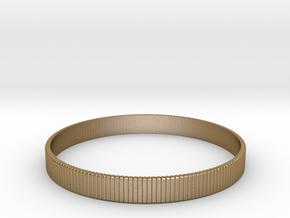 Bracelet Medium B  Ø2.44 inch/Ø62 mm in Polished Gold Steel