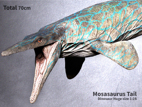 Mosasaurus Tail (Total 70cm / 1:28) in White Natural Versatile Plastic