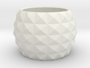 Modern round planter in White Natural Versatile Plastic