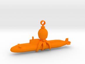Octocopter: Super Sub Squid Escape in Orange Processed Versatile Plastic