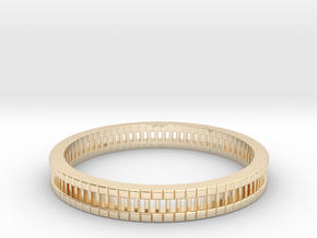 Bracelet D Small 2.0 Inch-52 Mm in 14k Gold Plated Brass