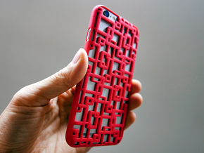 iPhone 6 / 6S Case_Connection in Red Strong & Flexible Polished