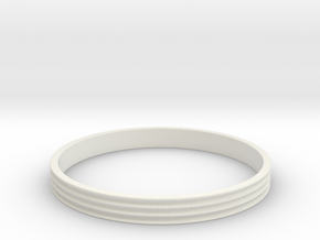 Bracelet  Ø2.5 Inch- Ø64 Mm in White Natural Versatile Plastic