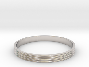 Bracelet  Ø2.5 Inch- Ø64 Mm in Rhodium Plated Brass