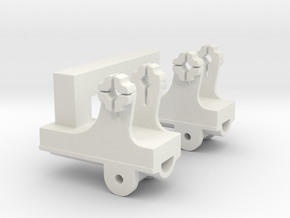 Dual  Pedestal Connector B for DShK scale 1:35 in White Natural Versatile Plastic