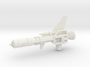 G1 Decepticon Clones Electro-Burst Rifle in White Natural Versatile Plastic