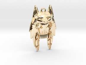 Wolf Hoodie in 14K Yellow Gold