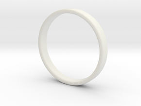 Simple band - size 9 US / 189 mm EU in White Strong & Flexible: 9 / 59