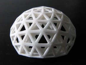 Geodesic domes in White Natural Versatile Plastic