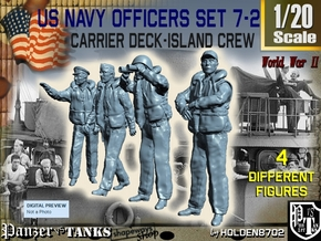 1/20 USN Officers Carrier Island Set7-2 in White Natural Versatile Plastic