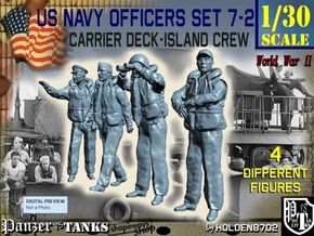 1-30 USN Officers Carrier Island Set7-2 in White Natural Versatile Plastic