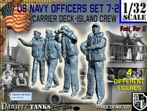 1-32 USN Officers Carrier Island Set7-2 in Frosted Ultra Detail