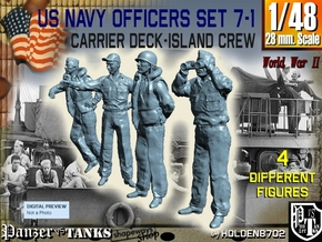 1-48 USN Officers Carrier Island Set7-1 in Smooth Fine Detail Plastic